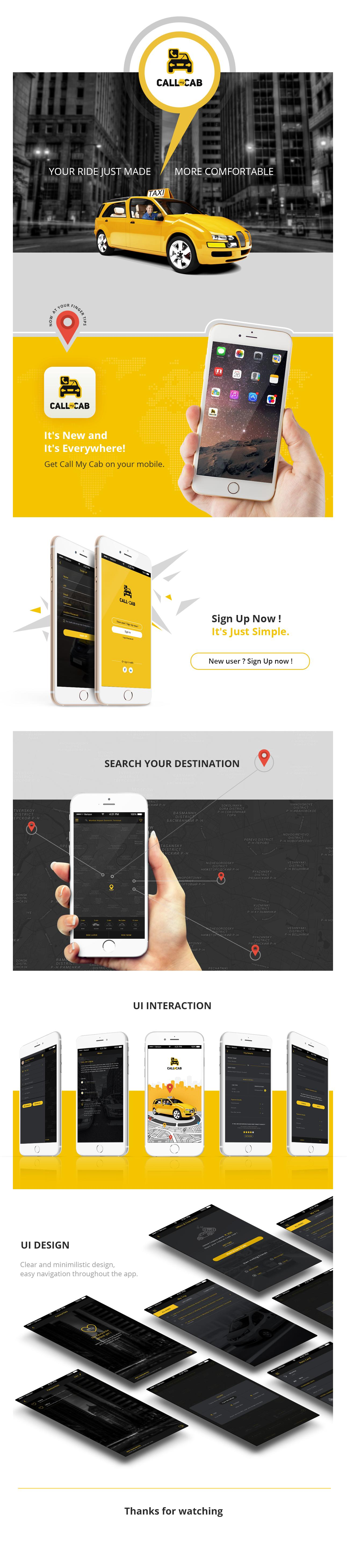 Online Taxi Booking App -Call My Cab Mobile App