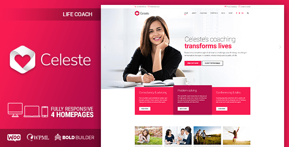 Celeste - Life & Health Coaching WordPress Theme - Business Corporate