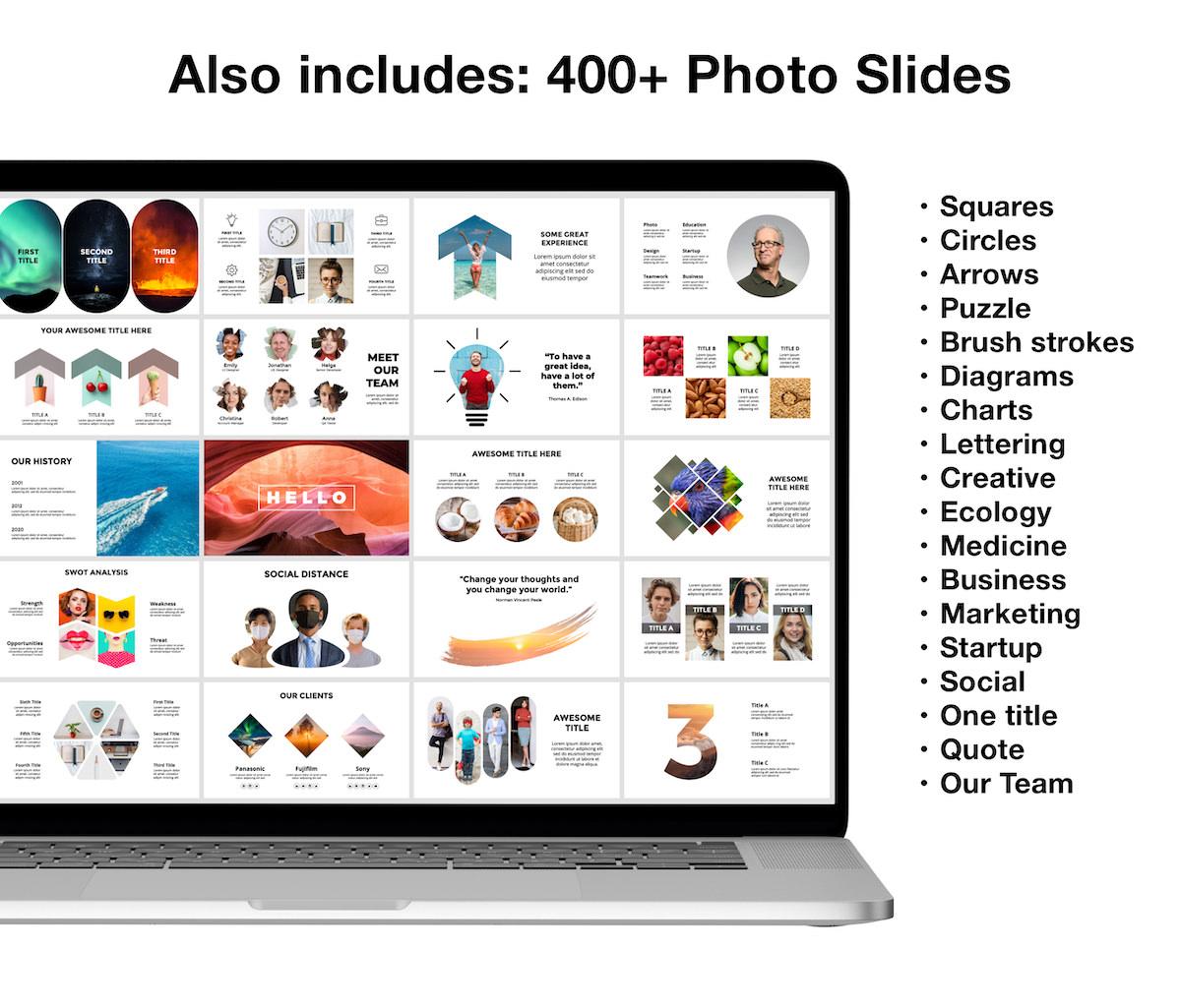 Huge Infographics Bundle! Lifetime Updates! PowerPoint, Photoshop, Illustrator. - 8