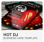 Hot DJ Business Card PSD template