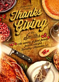 Rustic Thanksgiving Flyer Template by Design Cloud