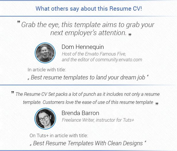 Resume CV Set - 1