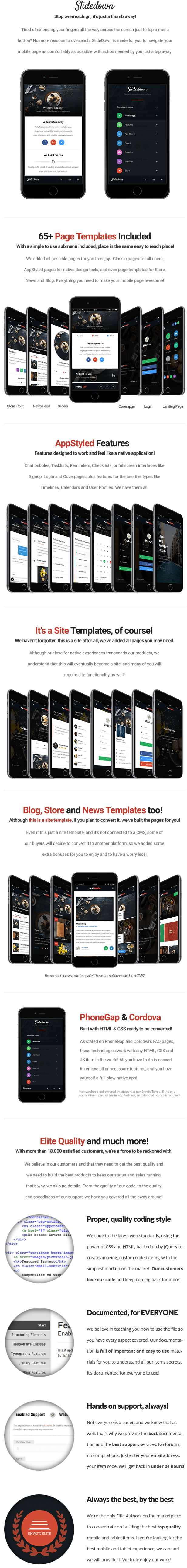 SlideDown Mobile | Mobile Template by Enabled | ThemeForest