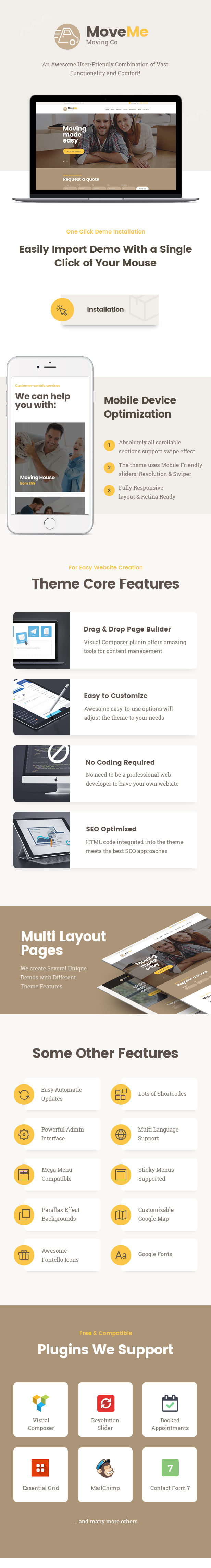 MoveMe | Moving & Storage Company WordPress Theme - 1
