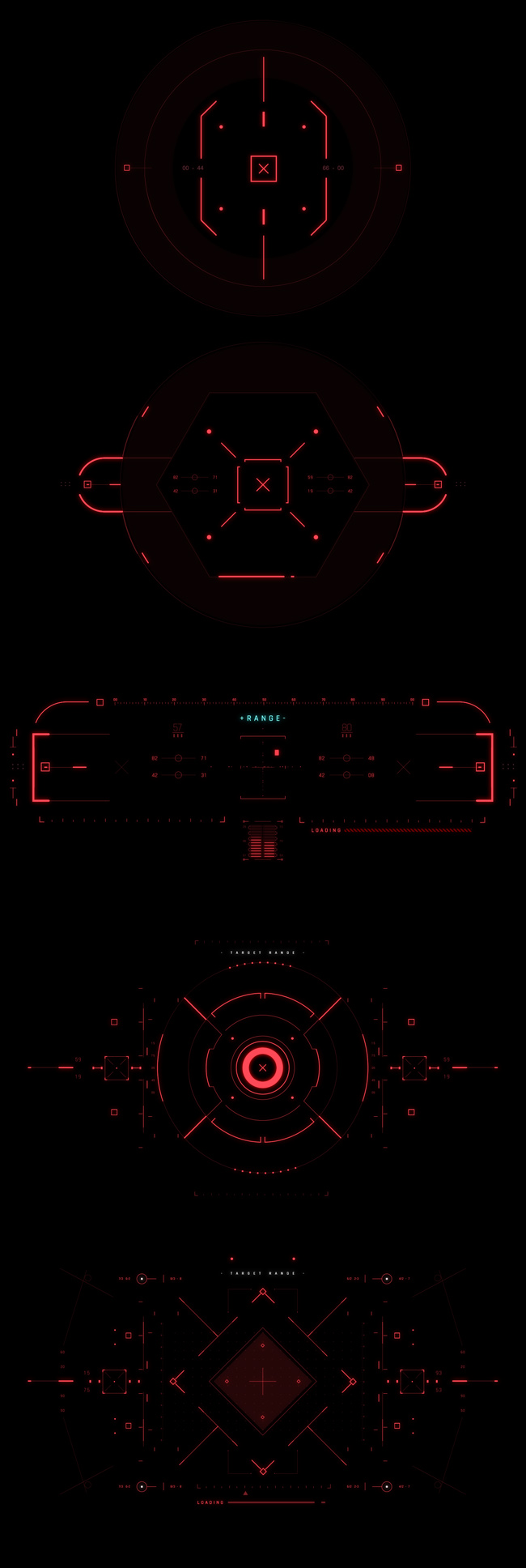 AE脚本-500个HUD高科技赛博朋克UI科幻界面元素动画预设包 Cyberpunk HUD UI 500+ 已修复中文版AE表达式报错插图9