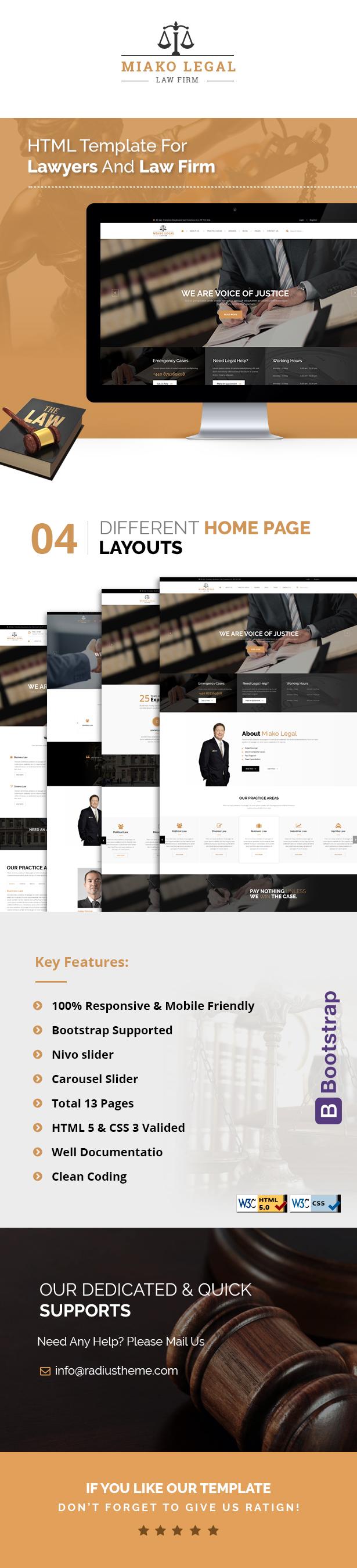 miakolegal Law firm html template