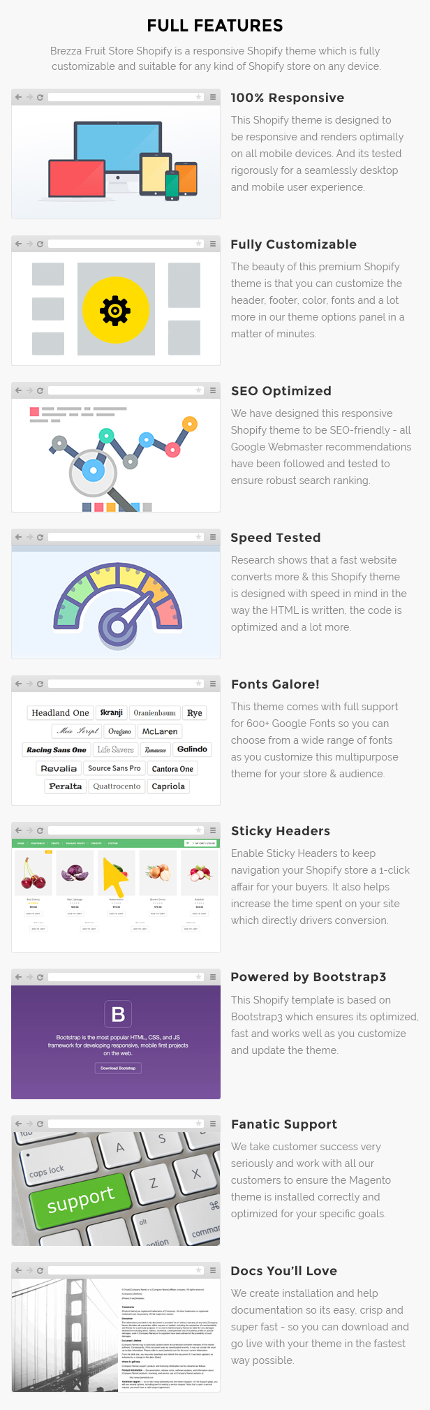 Fruits store Shopify template