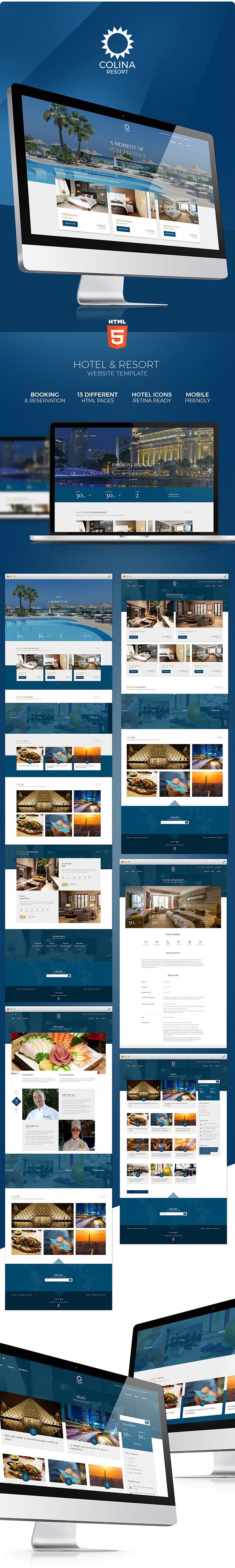 Colina v1.0-高端酒店/旅游度假景区酒店HTML模板插图2