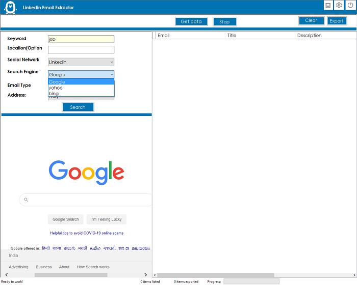LinkedIn Emails Scraper and Extractor - 1