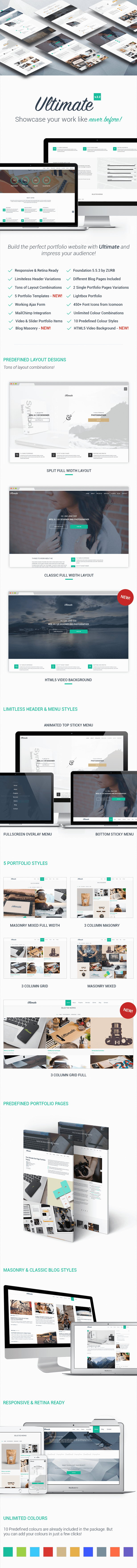 Ultimate - One Page HTML5 Portfolio Template - 2