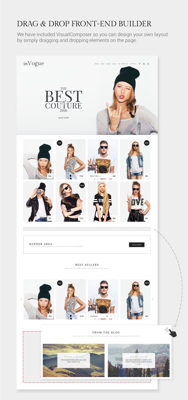 inVogue - WordPress Fashion Shopping Theme - 6