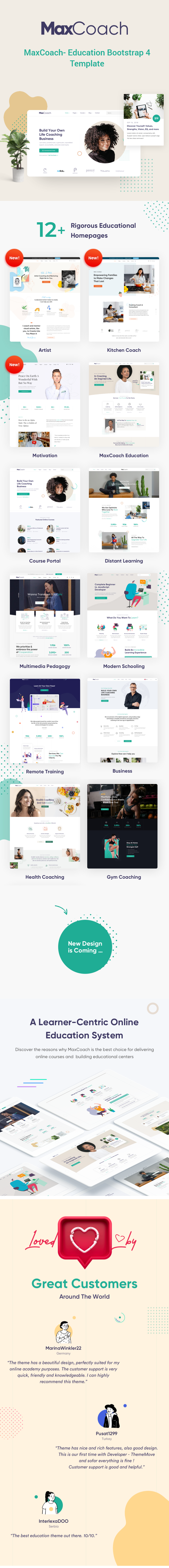 MaxCoach - Education Bootstrap 4 Template - 2