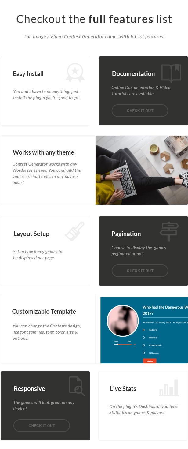 Image / Video Contest Generator Wordpress Plugin by AA-Team | CodeCanyon