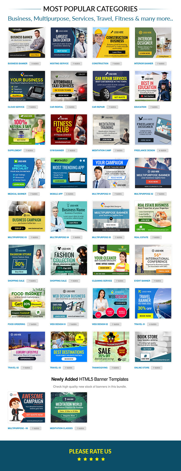 Creative HTML5 banners for business