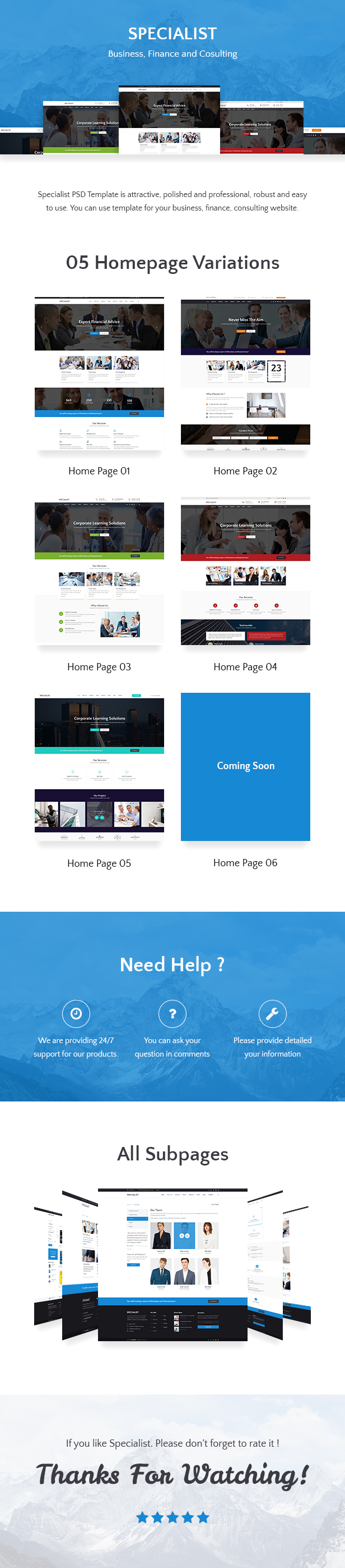 Specialist   Multipurpose Business & Financial, Consulting, Accounting, Broker Psd Templates - 1