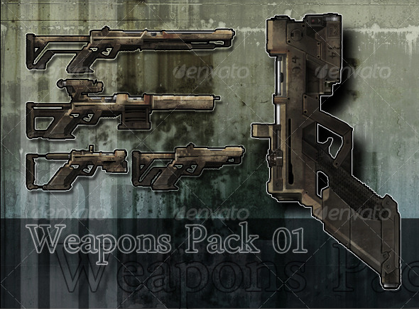 Low Poly 3D Modular Weapons Pack