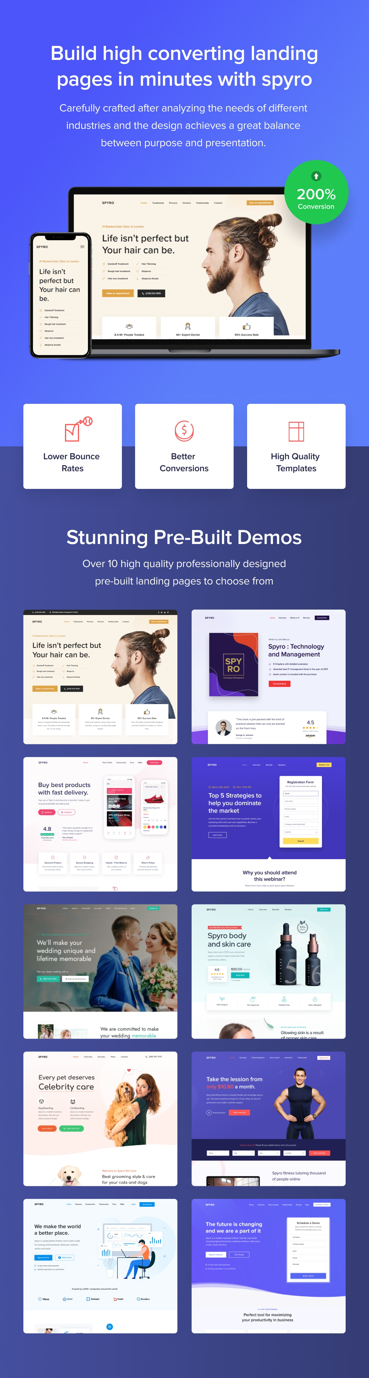 Spyro - Marketing Landing Page WordPress Theme - 2