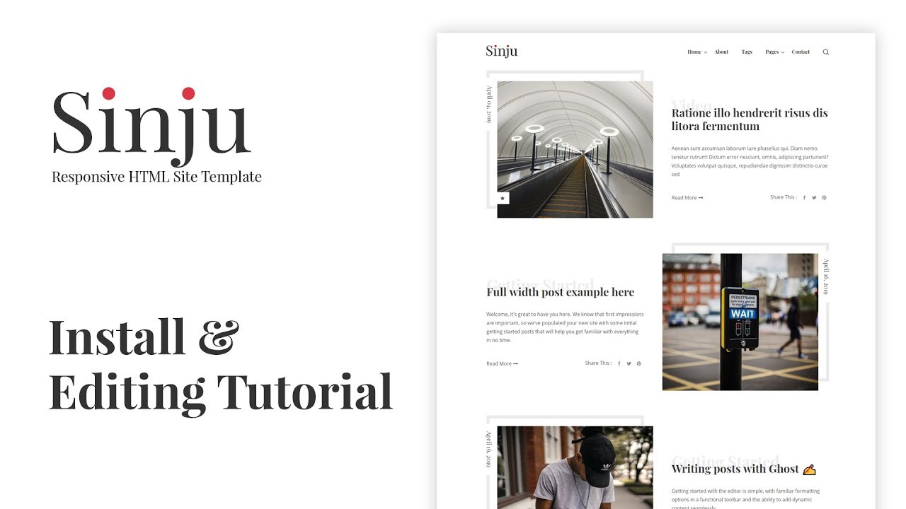 Sinju - HTML5 Blog Site Template by themeix | ThemeForest