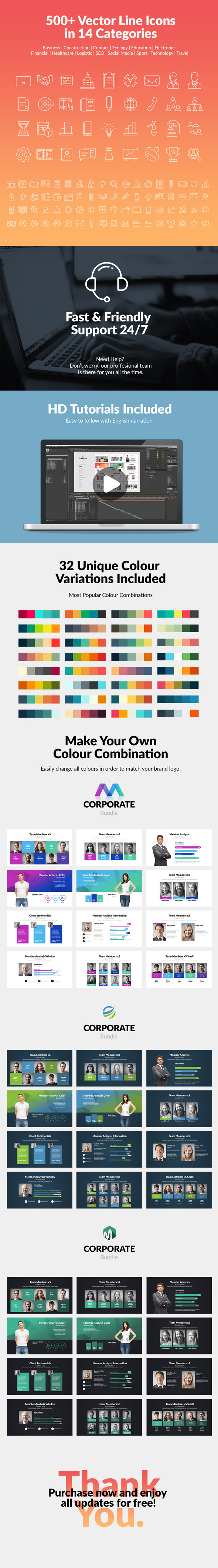 Corporate Bundle & Infographics - 15