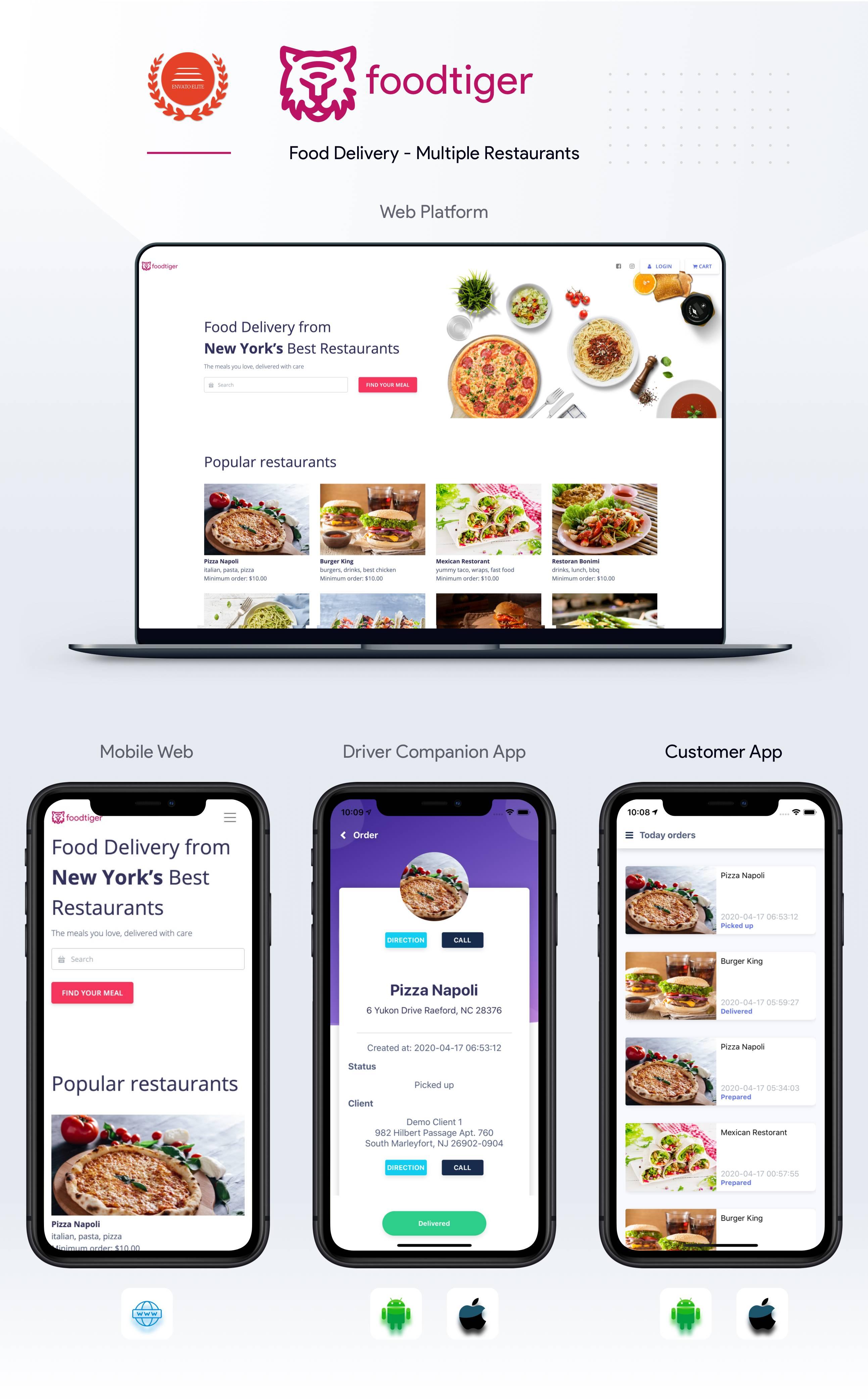 FoodTiger - Food delivery - Multiple Restaurants - 8