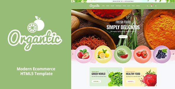 Organtic – Organic Food Responsive HTML5 Template