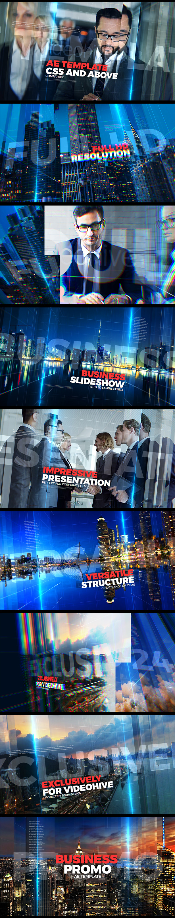 Business Promo After Effects Video Template