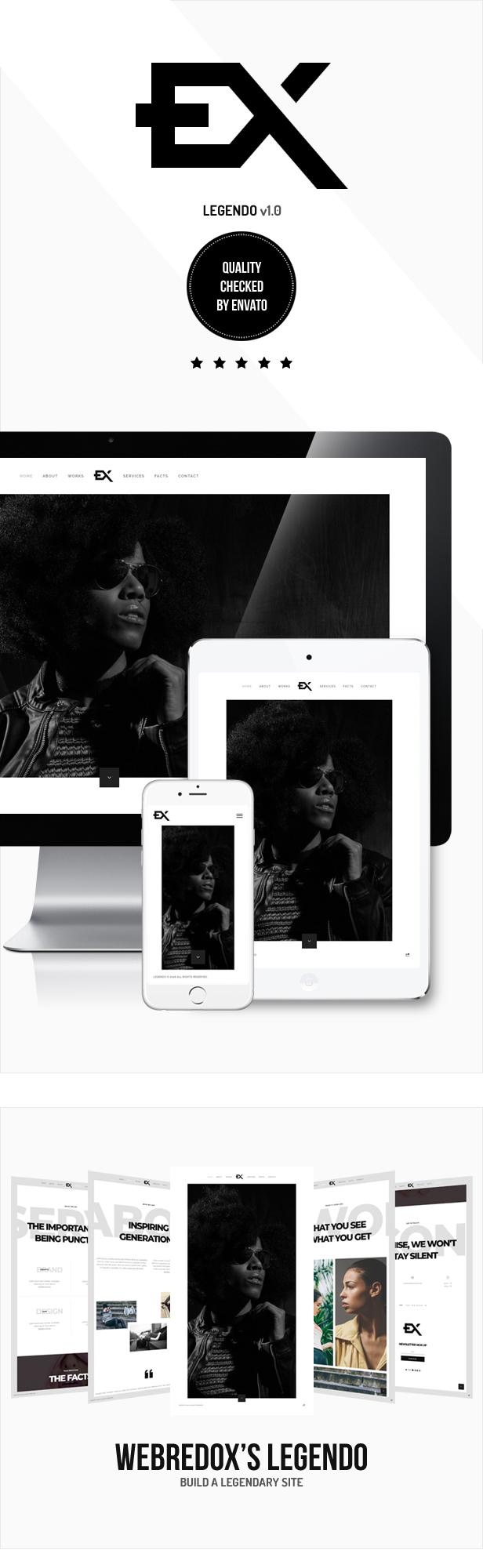 Legendo - One Page Portfolio WordPress Theme