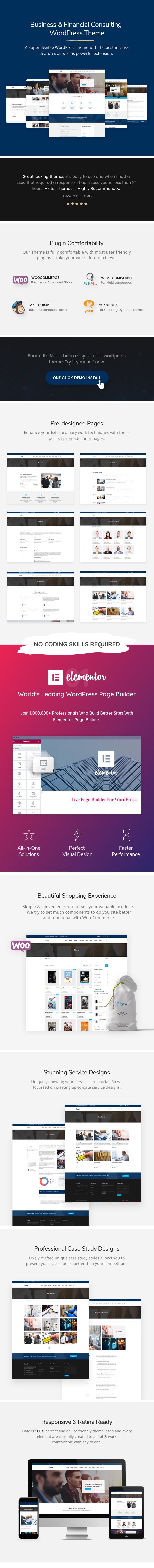 Elate Theme Features