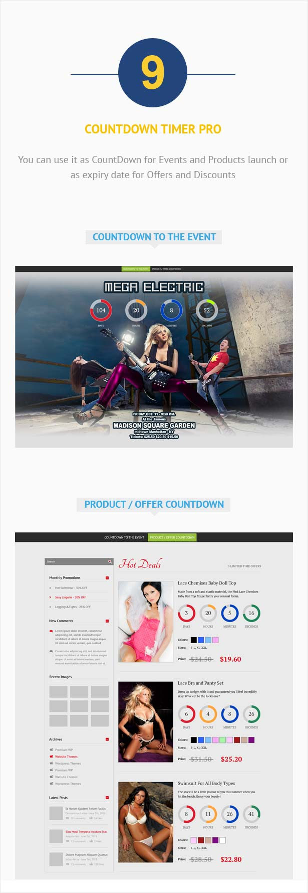 Visual Composer Addon – CountDown PRO