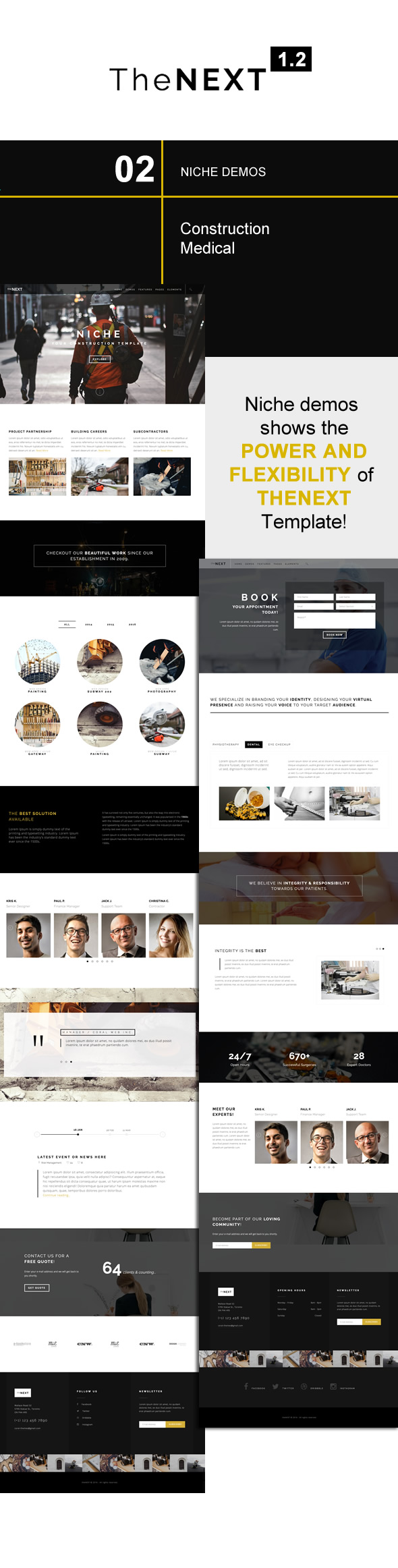 Thenext creative business portfolio template by coral themes responsive html template responsive flashek Image collections