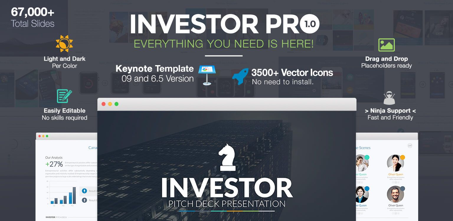 investor pitch deck powerpoint templatelouistwelve-design, Presentation templates