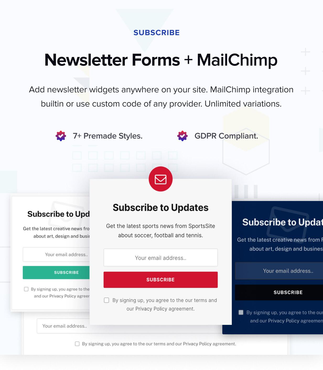 Newsletter & Mailchimp