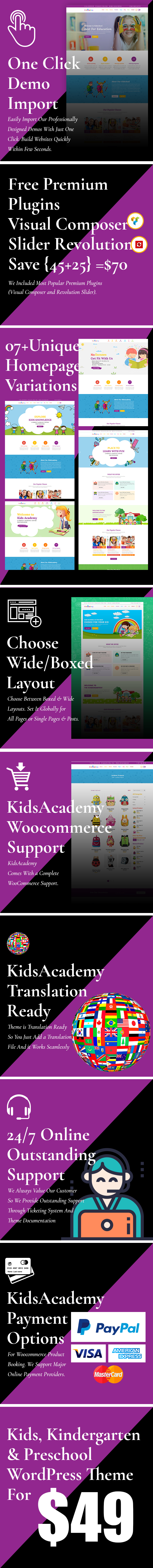 KidsAcademy - Kids, Kindergarten & Preschool WordPress Theme - 2
