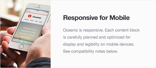 Oceanic - Modular Responsive Email Template - 2