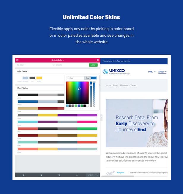 Corporate WordPress Theme - color skins