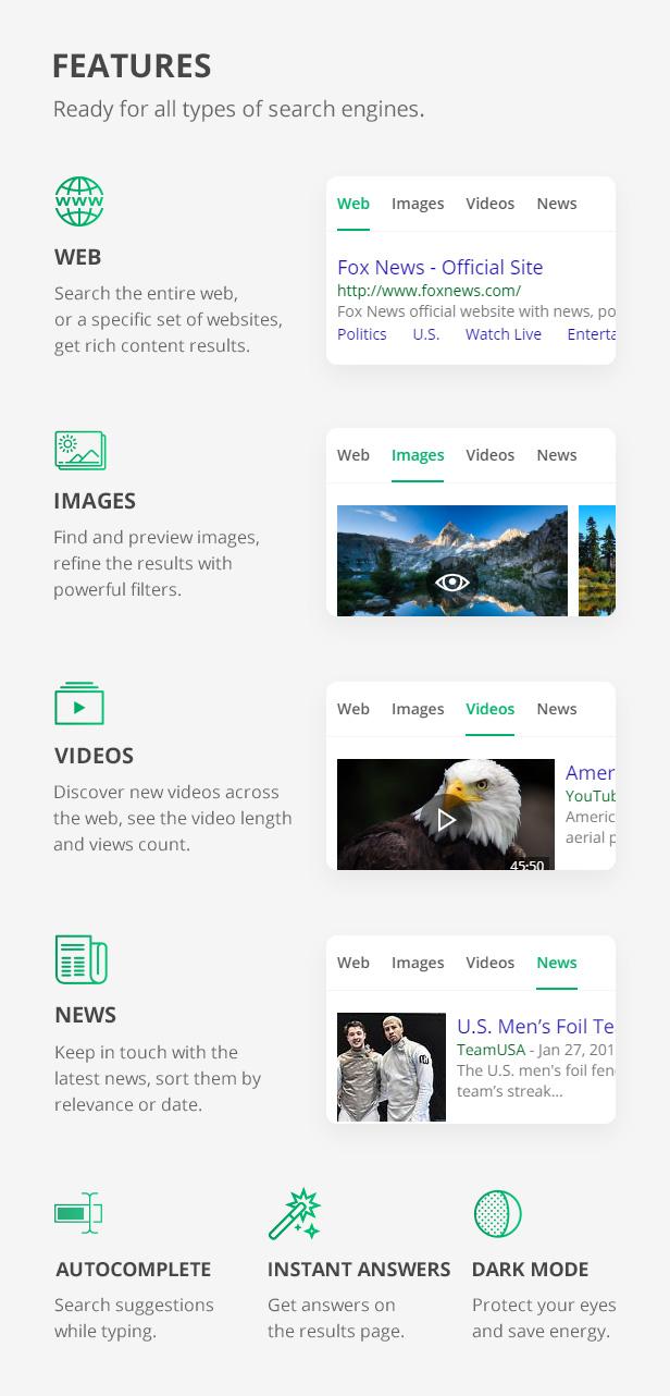 phpSearch - Search Engine Platform - 4