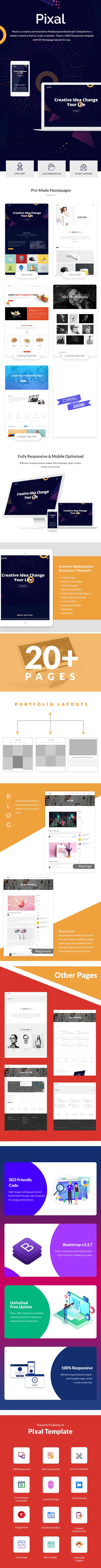 Pixal - Creative Multipurpose Template - 1