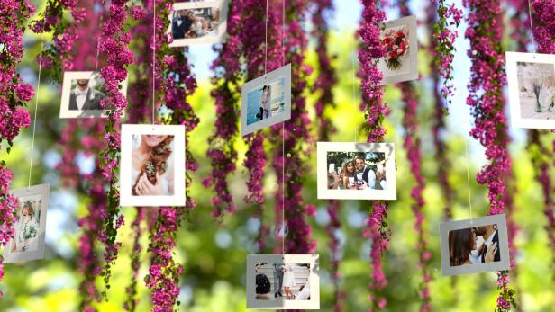 Pink Flowers Wedding Slideshow - 5