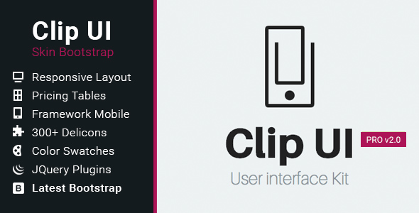 CLIP UI - Bootstrap Skin - CodeCanyon Item for Sale