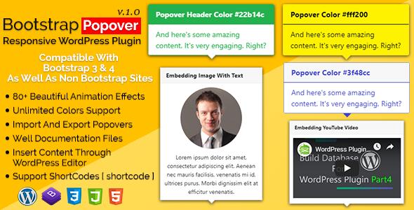 Bootstrap Popover - Responsive WordPress Plugin