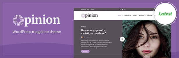 Opinion - Modern News & Magazine Style WordPress Theme
