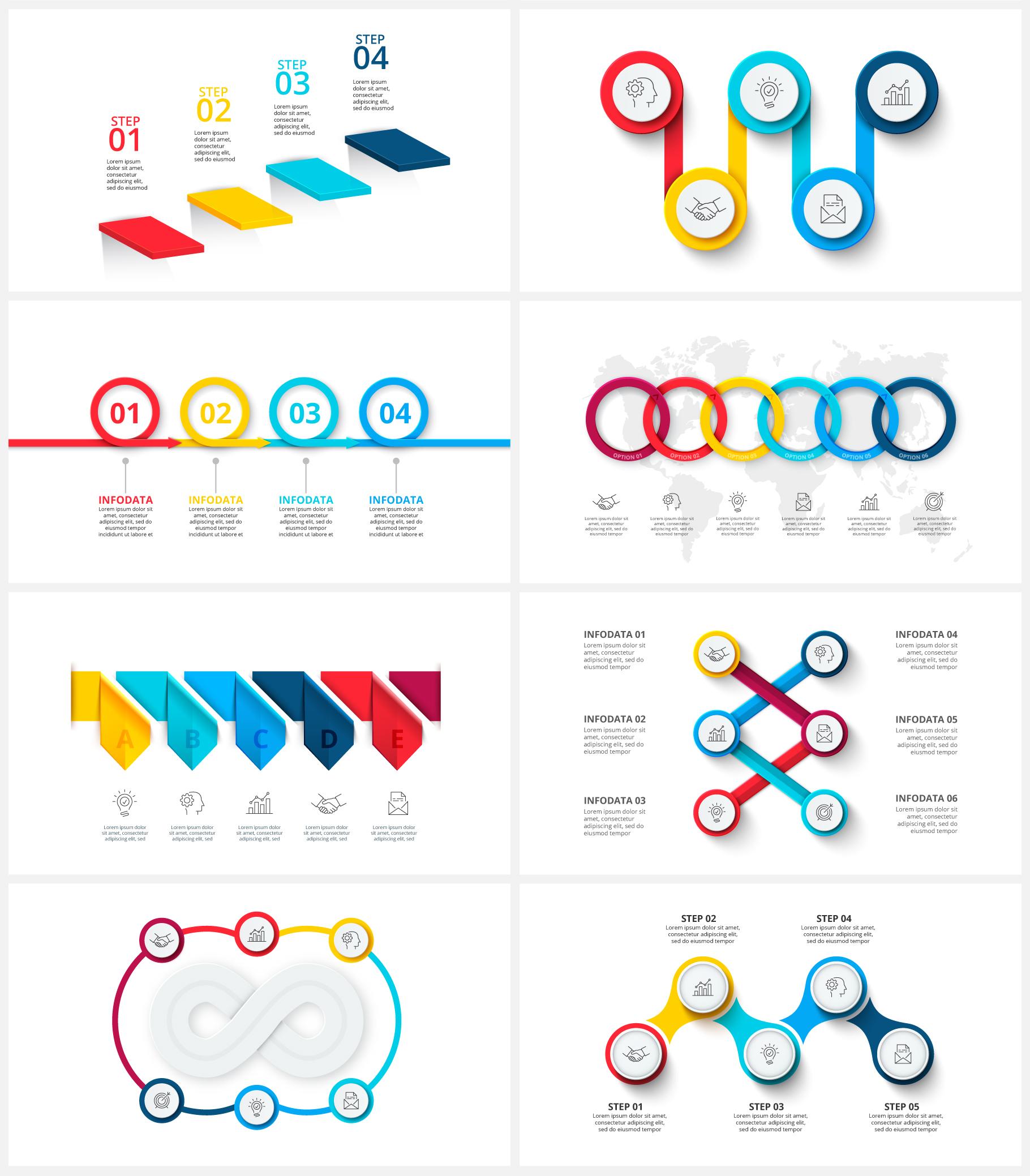 Multipurpose Infographics PowerPoint Templates v.5.0 - 114