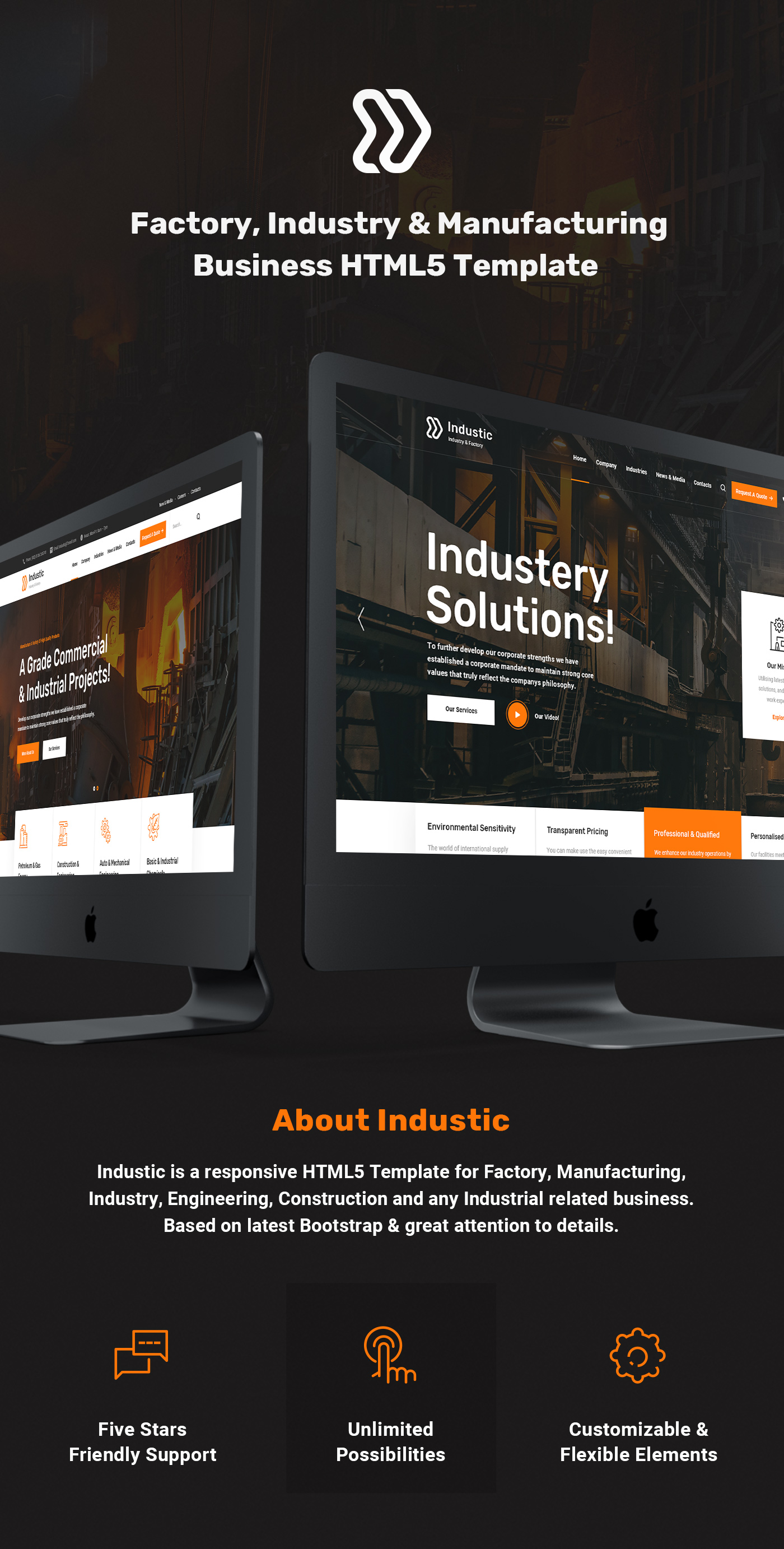 Industic - Factory and Manufacturing HTML5 Template - 5