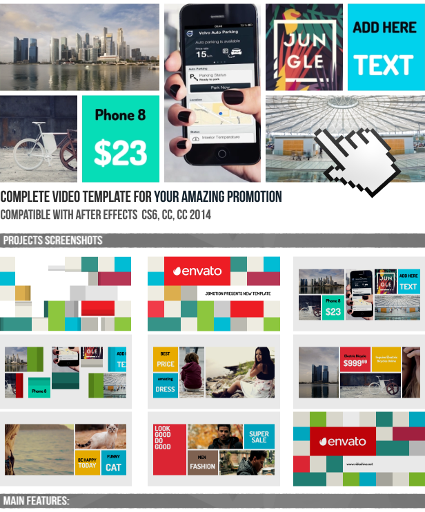 Webmarket Online Shop Promo By JBMotion VideoHive - Awesome after effects website template design