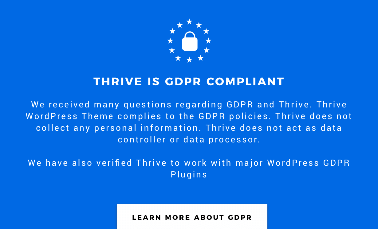 Thrive GDPR Compliance