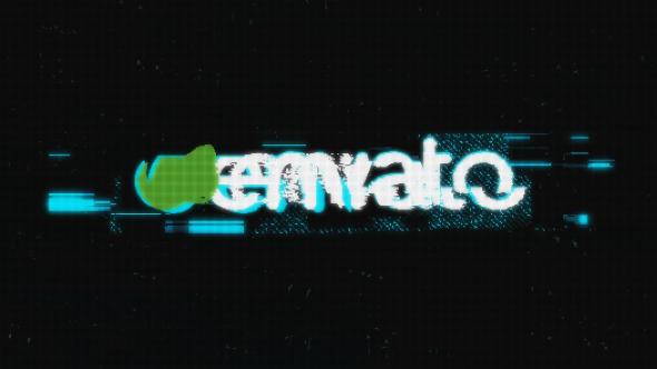 Grunge Glitch Logo - 5