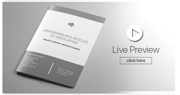 Memorandum and Articles of Associations