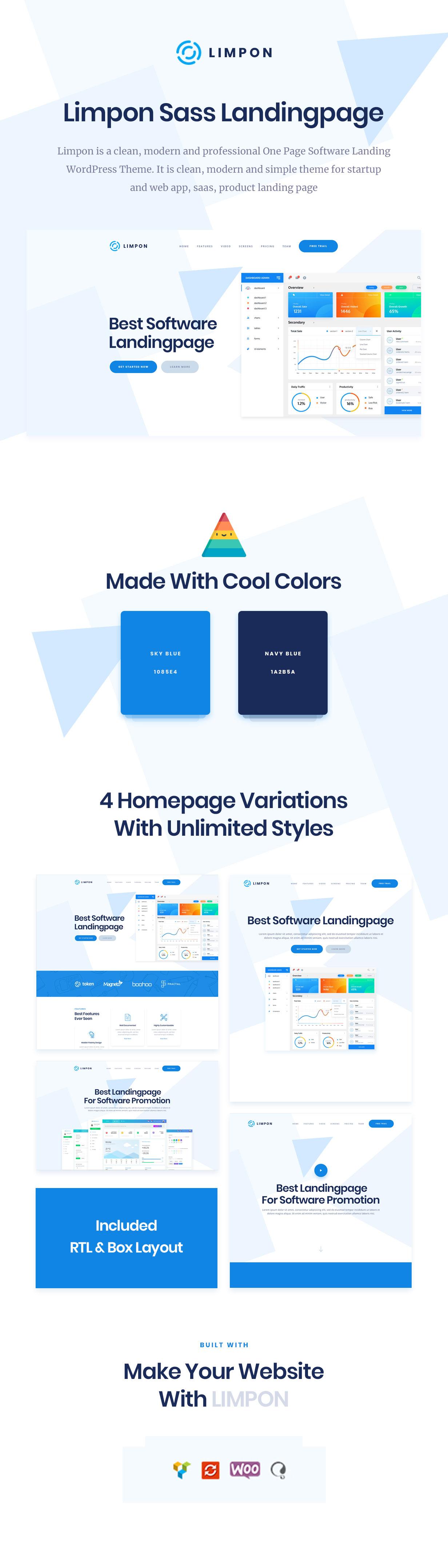 Limpon - App Landing WordPress - 1