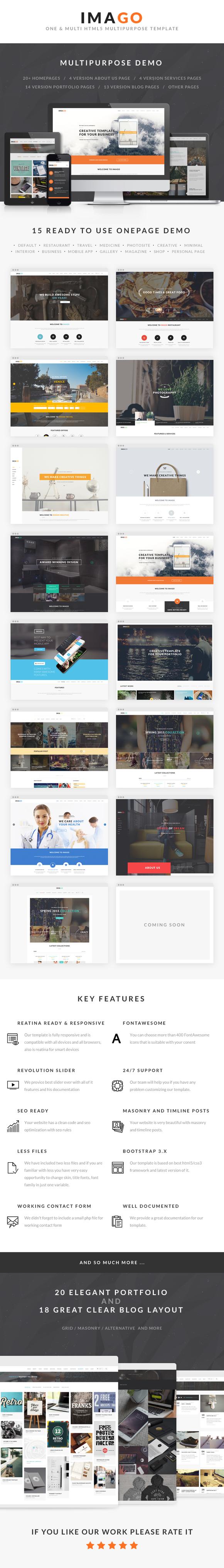 Imago - Multipurpose HTML5 Template - 1