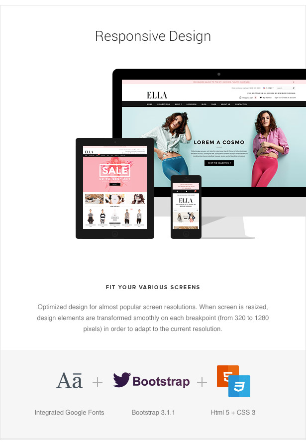 ELLA Responsive 3dCart Theme Features